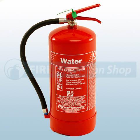 FirePower 9 Litre Water Fire Extinguisher UK BS EN3 Approved