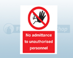 Rigid Plastic Restricted Access For Persons Signs