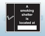 Rigid Plastic Designated Smoking Area Sign