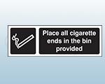 Self Adhesive Designated Smoking Area Sign