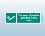 Self Adhesive E-cigarette Signs