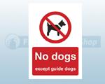 Self Adhesive Dog Prohibition Signs