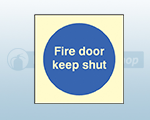 Photoluminescent Fire Door Signs