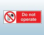 Rigid Plastic Machinery Prohibition Signs