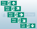 Rigid Plastic Fire Exit Signs