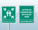 Aluminium Fire Assembly Point Signs