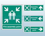 Rigid Plastic Fire Assembly Signs