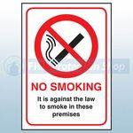 Self Adhesive No Smoking Sign