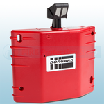 Red Dorgard Auto Release Fire Door Retainer