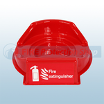 Single Red Fire Extinguisher Plinth