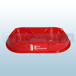 Double Red Fire Extinguisher Plinth