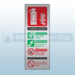 Prestige Portrait Co2 Fire Extinguisher Sign (Stainless Look)
