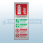 Prestige Portrait AFFF Foam Fire Extinguisher Sign (Stainless Look)