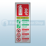 Prestige Portrait Wet Chemical Fire Extinguisher Sign (Stainless Look)