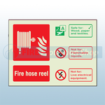 Landscape Photoluminescent Fire Hose Reel Sign