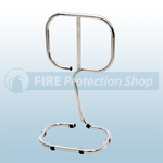 Single Chrome Tubular Fire Extinguisher Stand