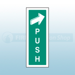 300mm X 100mm Self Adhesive Push To Open Sign 1