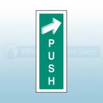 300mm X 100mm Rigid Plastic Push To Open Sign 1