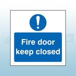 80mm X 80mm Self Adhesive Caution Fire Door Keep Closed Sign