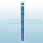 45mm X 400mm Self Adhesive Caution Fire Door Keep Closed Sign