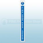 45mm X 400mm Self Adhesive Caution Fire Door Keep Locked Sign