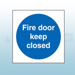 80mm X 80mm Self Adhesive Fire Door Keep Closed Sign