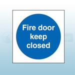 80mm X 80mm Rigid Plastic Fire Door Keep Closed Sign