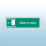 450mm X 150mm Self Adhesive Slide To Open Left Sign