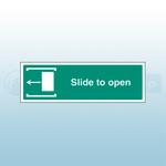 450mm X 150mm Rigid Plastic Slide To Open Left Sign