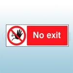 300mm X 100mm Rigid Plastic No Exit Sign