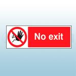 1270mm X 610mm PVC No Exit Banner