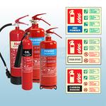 2KG Co2, 2KG, 3KG ABC Dry Powder, 6LTR AFFF Foam Fire Extinguishers & Extinguisher ID Signs