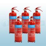 FireShield 2Kg ABC Dry Powder Fire Extinguishers X5
