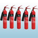 FireShield 2Kg Co2 Fire Extinguishers x5