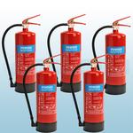 FireShield 6Kg ABC Dry Powder Fire Extinguishers x5