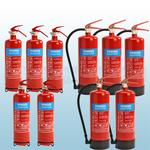FireShield 2Kg ABC Dry Powder Fire Extinguishers x5 & FireShield 6Kg ABC Dry Powder Fire Extinguishers x5