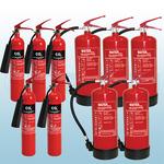 FireShield 2Kg CO2 Fire Extinguishers x5 & FireShield 6Ltr Water Fire Extinguishers x5