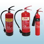FireShield 6Ltr AFFF Foam, 6Ltr Wet Chemical & 2KG CO2 Fire Extinguishers