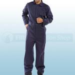 Navy Blue Cotton Drill Boilersuit