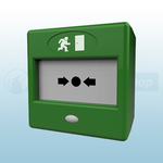 CQR FP3/GR/DP Green Call Point Emergency Door Release