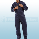 Navy Blue Quilted Boilersuit