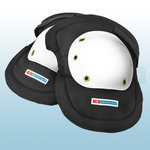 Black / White Riveted Cap Knee Pads