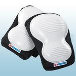 Black / White Poly Ridged Knee Pads