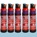 FireShield 600g BC Dry Powder Fire Extinguishers x5