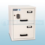 FF Fire Resistant Electronic Locking Filing Cabinet 2 Drawers