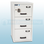 FF Fire Resistant Electronic Locking Filing Cabinet 3 Drawers