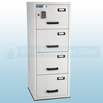 FF Fire Resistant Electronic Locking Filing Cabinet 4 Drawers