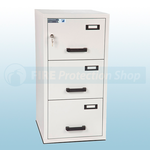 FF Fire Resistant Key Locking Filing Cabinet 3 Drawers