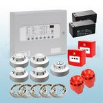 Premium Conventional Kentec 2 Zone Fire Alarm Kit - Apollo