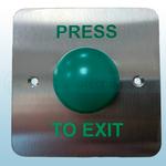 Flush Mount Green Dome Exit Button